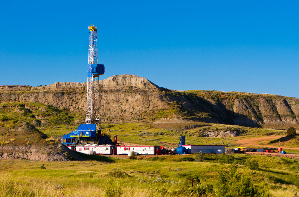 An oil rig.  Photo courtesy of Wyoming Casing Service.